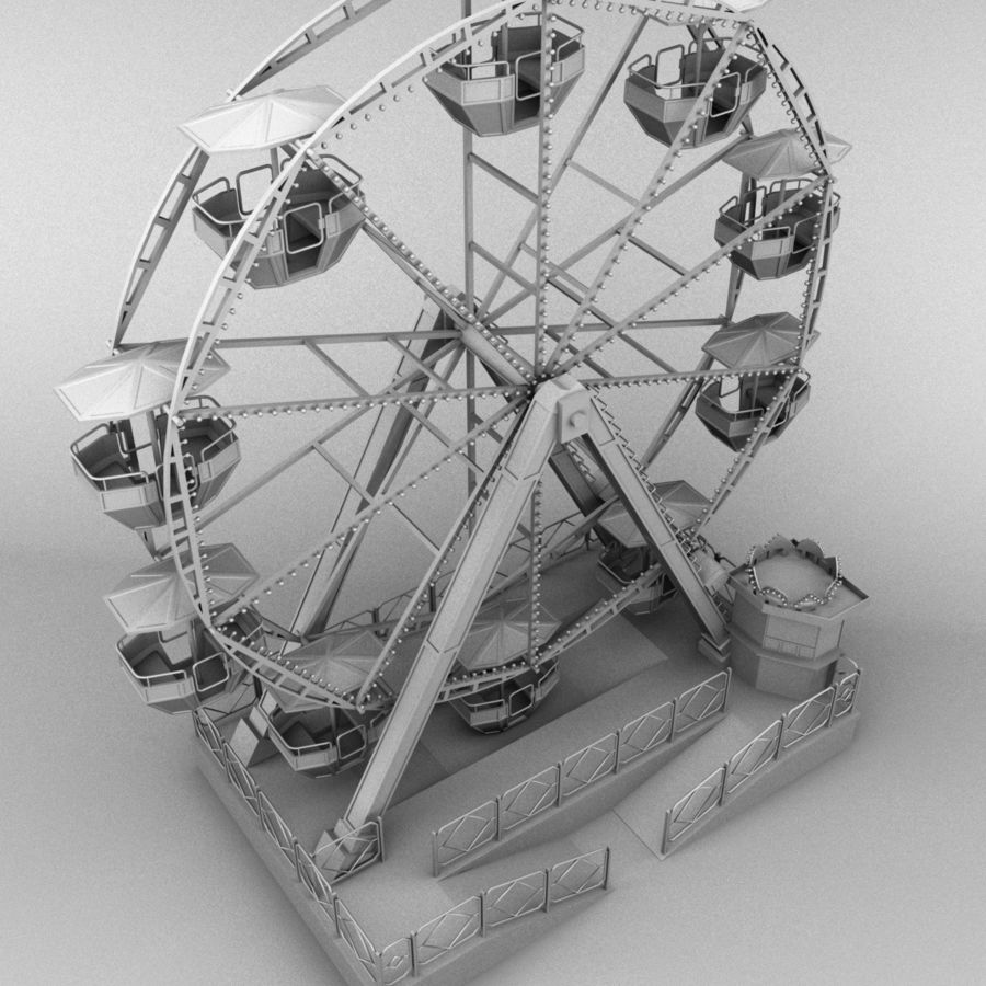 Ferris wheel royalty-free 3d model - Preview no. 11