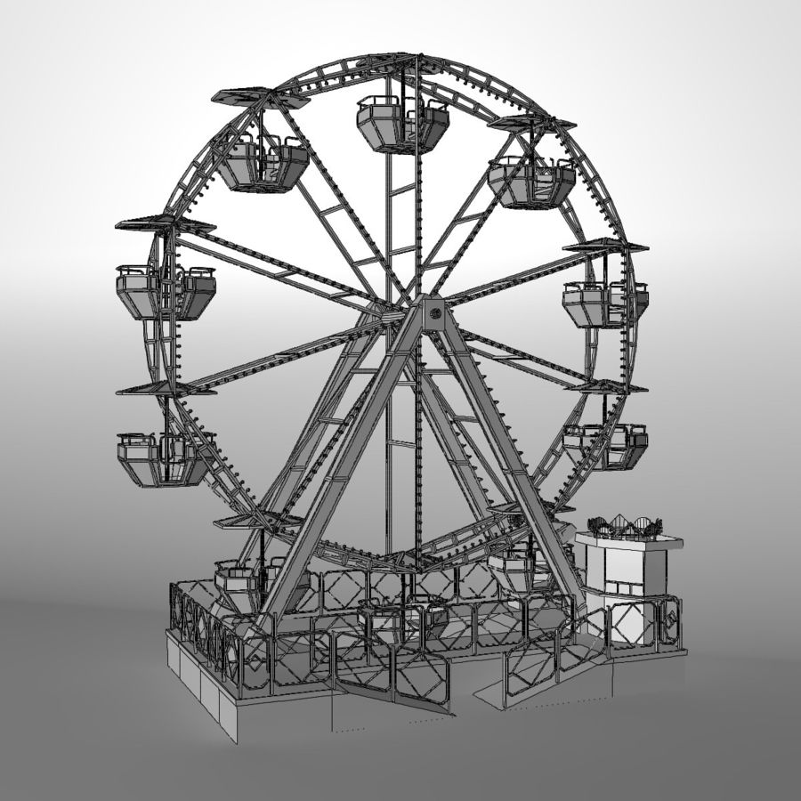 Ferris wheel royalty-free 3d model - Preview no. 17