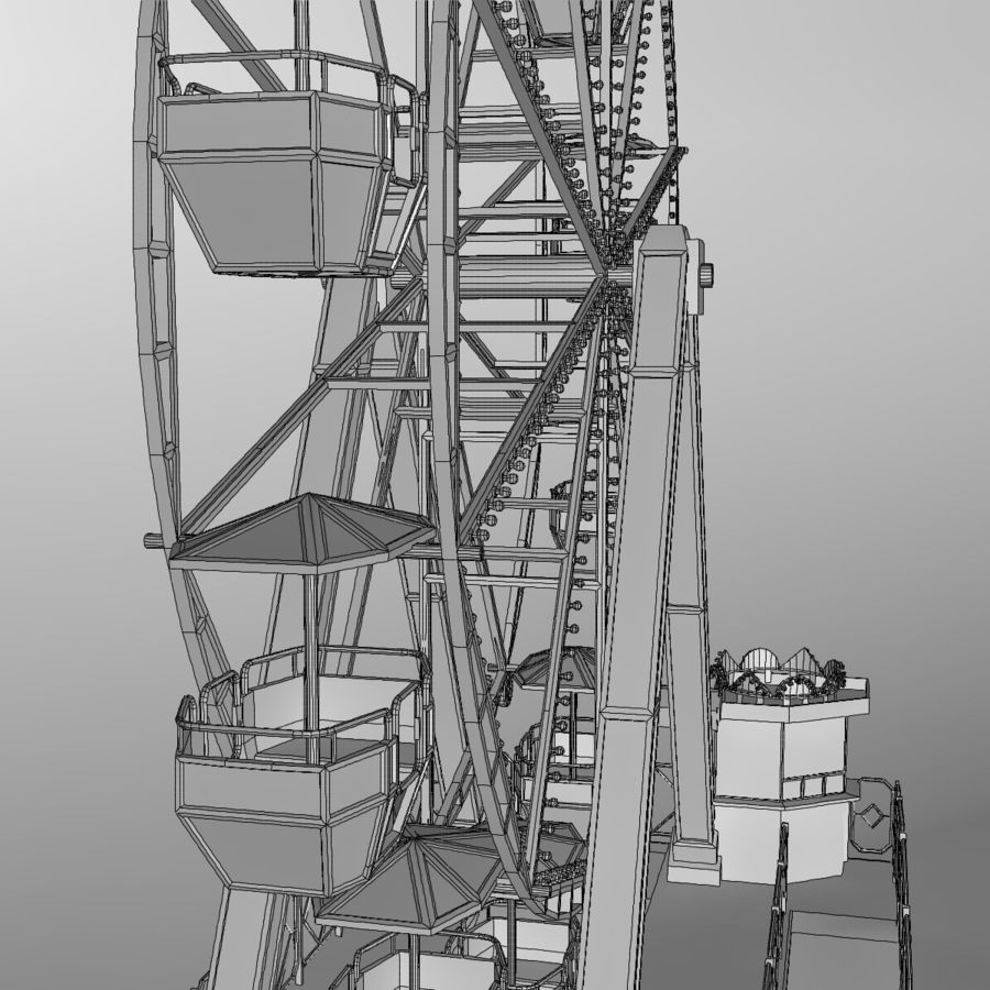 Ferris wheel royalty-free 3d model - Preview no. 24