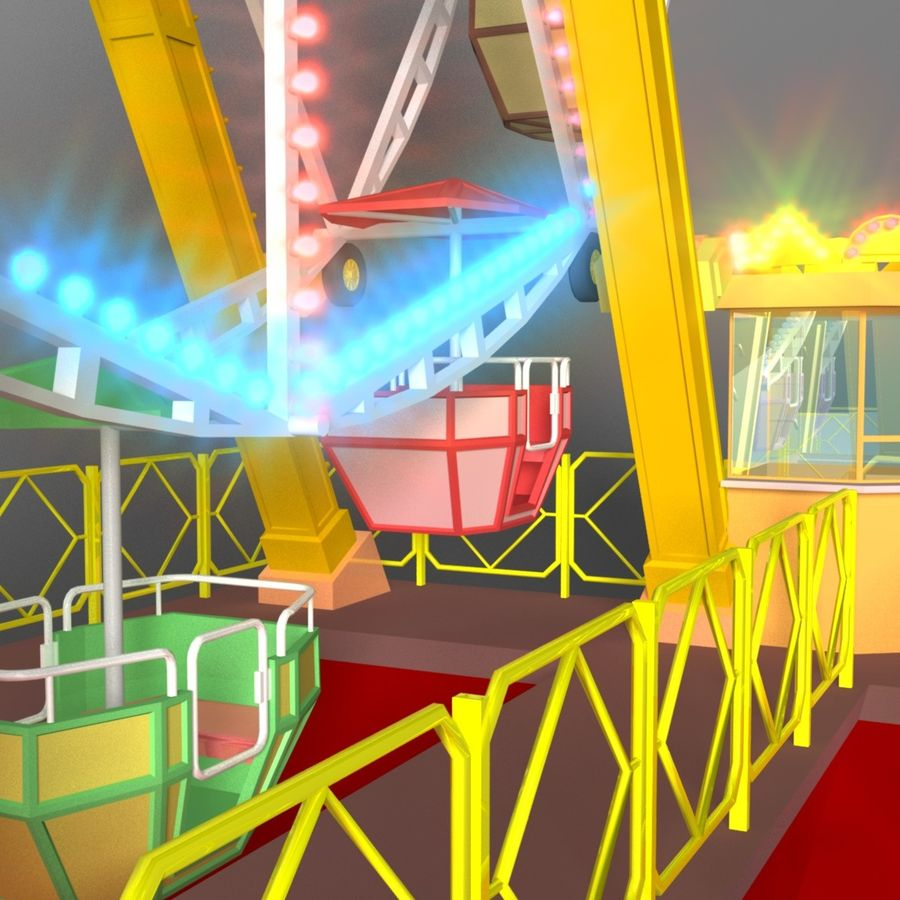 Ferris wheel royalty-free 3d model - Preview no. 6