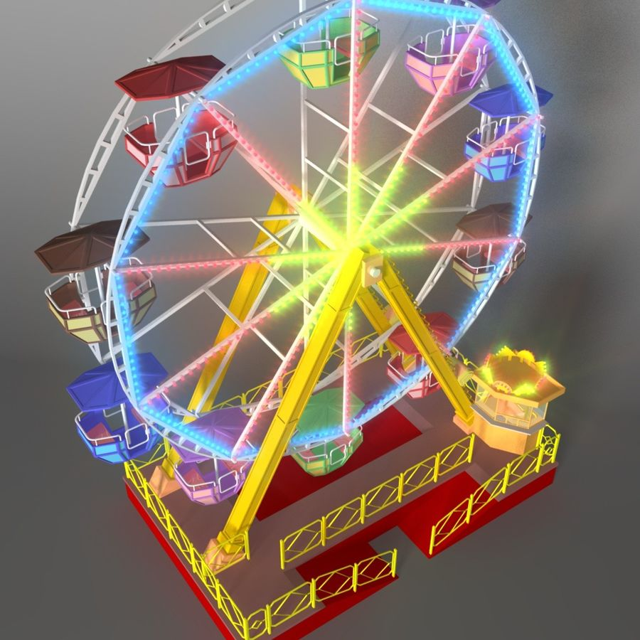 Ferris wheel royalty-free 3d model - Preview no. 3