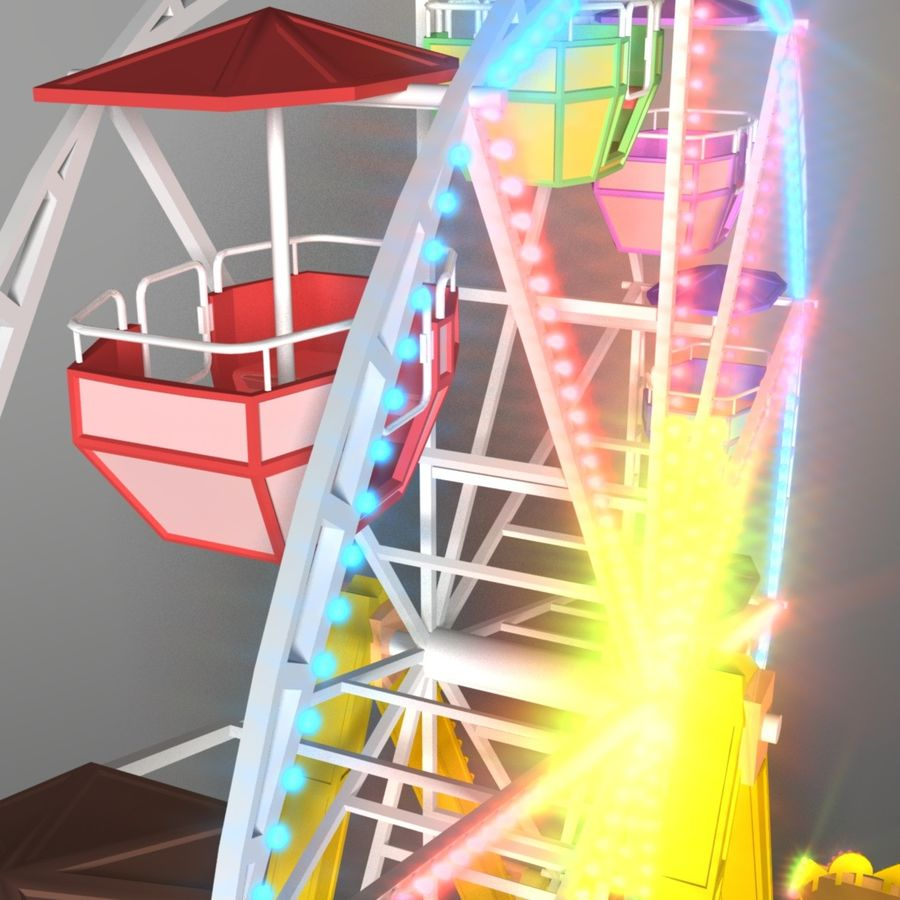 Ferris wheel royalty-free 3d model - Preview no. 5