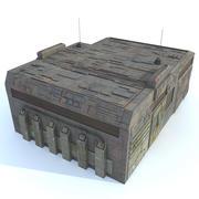 Sci fi Building E textured 3d model