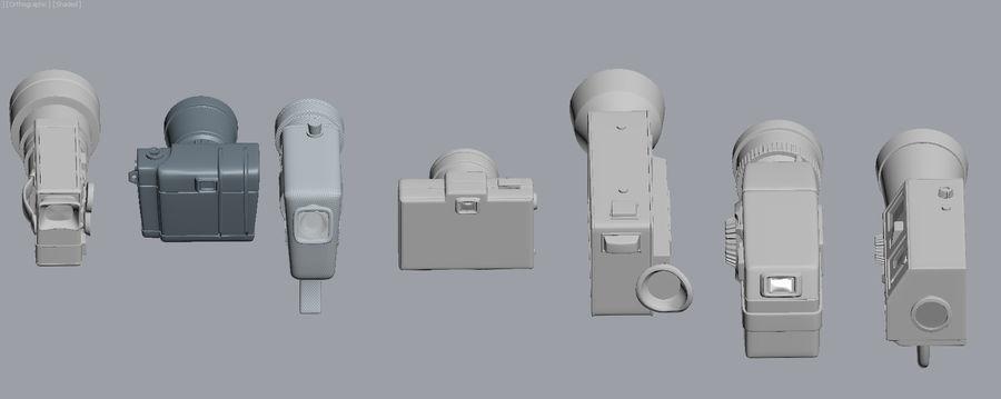 retro camera royalty-free 3d model - Preview no. 6