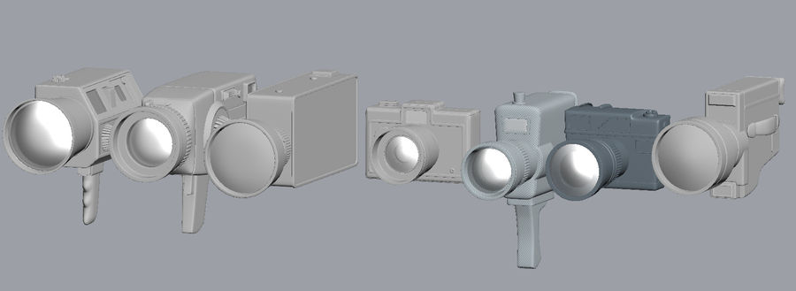 retro camera royalty-free 3d model - Preview no. 8