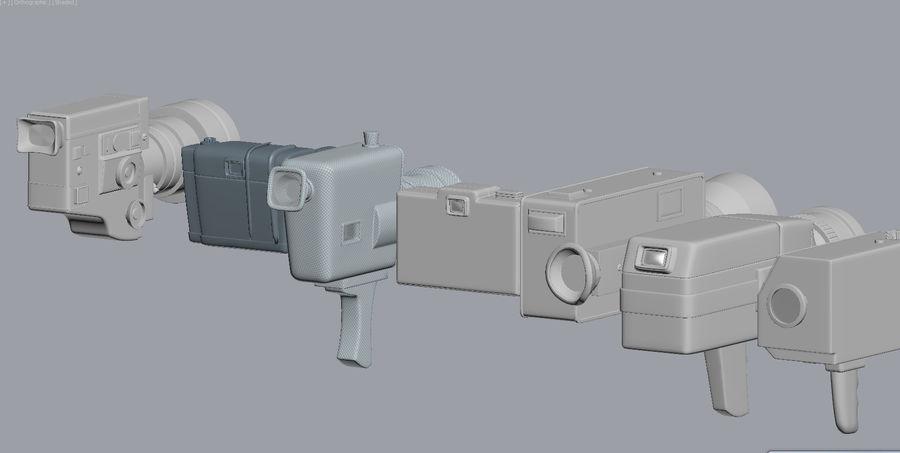 retro camera royalty-free 3d model - Preview no. 4
