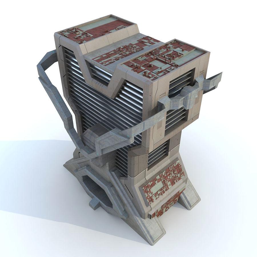 Sci Fi Building L Modern royalty-free 3d model - Preview no. 2