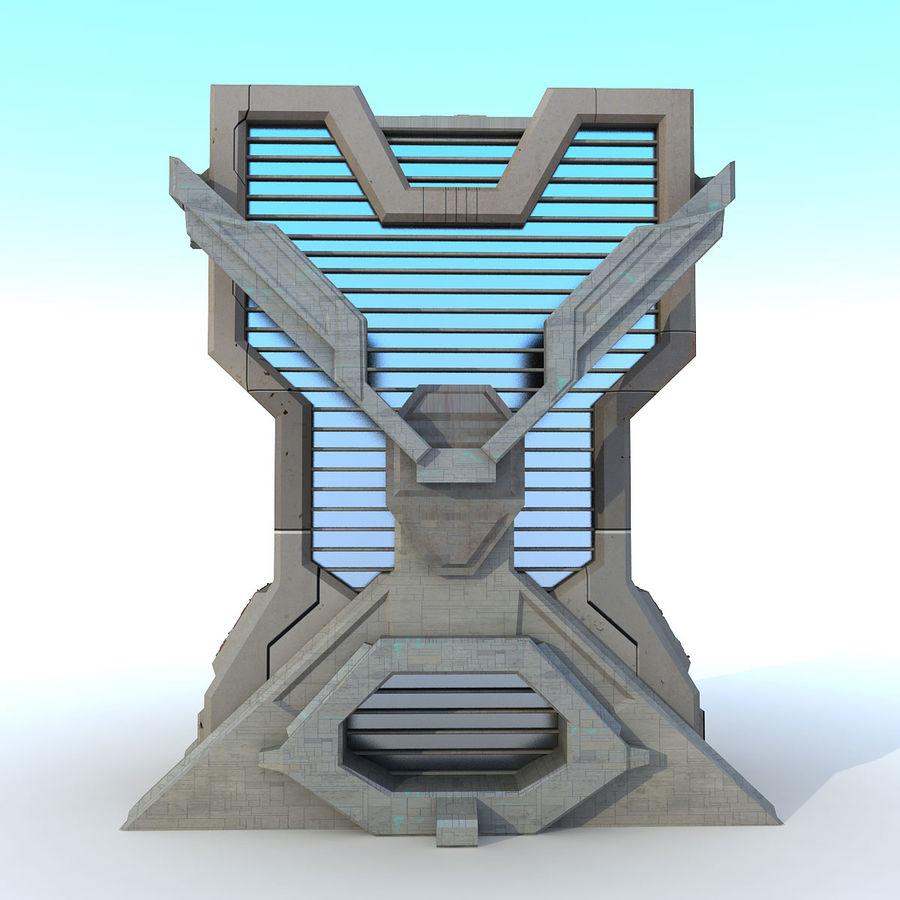 Sci Fi Building L Modern royalty-free 3d model - Preview no. 4