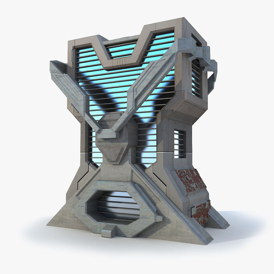 Sci Fi Building L Modern royalty-free 3d model - Preview no. 1