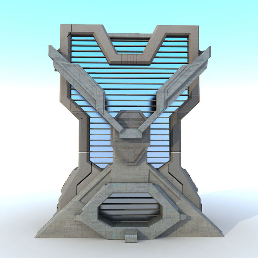 Sci Fi Building L Modern royalty-free 3d model - Preview no. 4