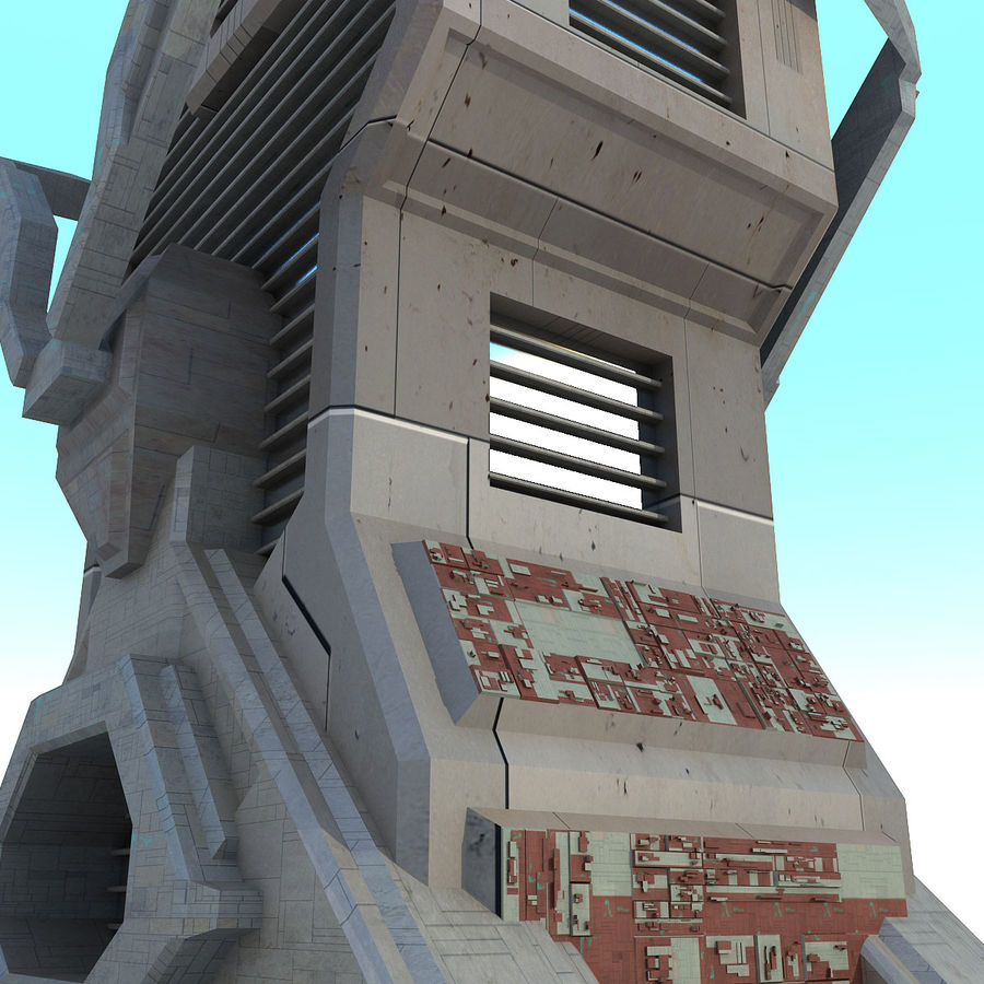 Sci Fi Building L Modern royalty-free 3d model - Preview no. 5