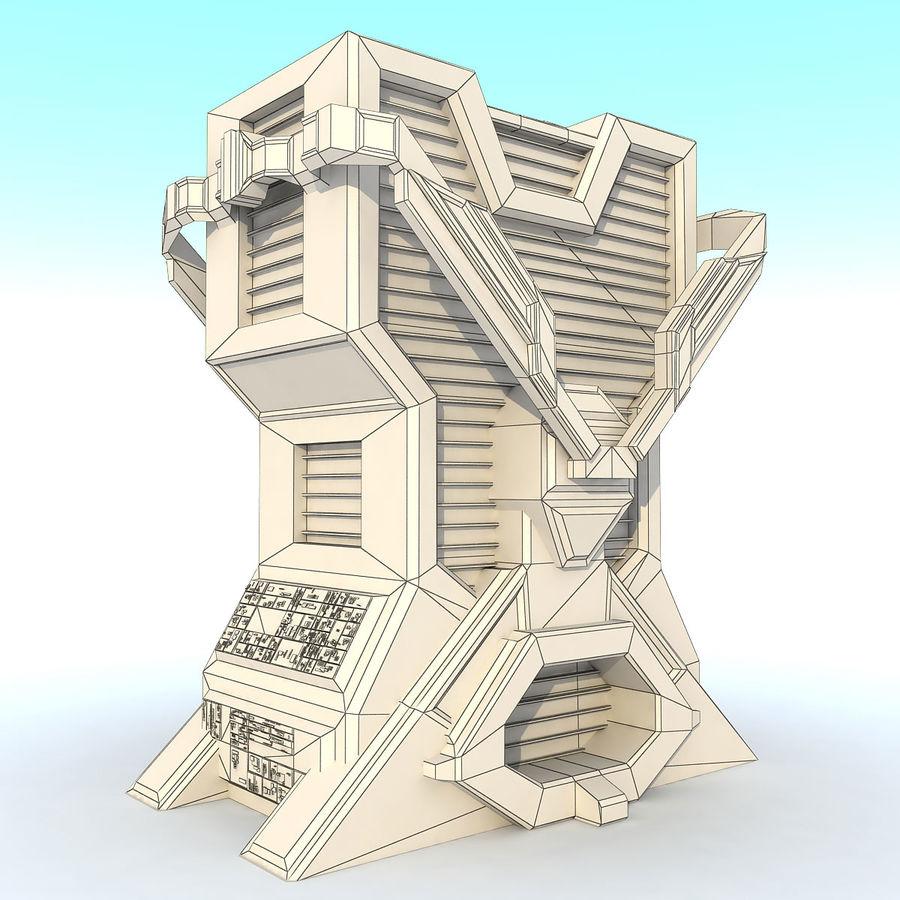 Sci Fi Building L Modern royalty-free 3d model - Preview no. 7