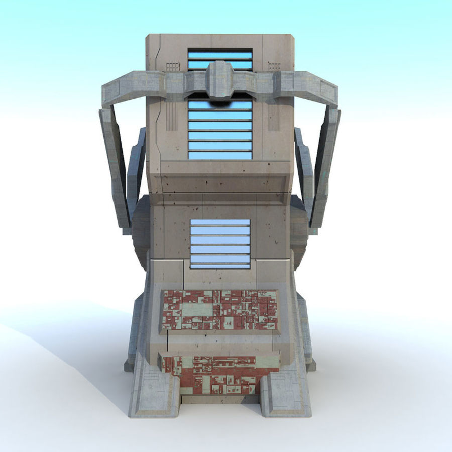 Sci Fi Building L Modern royalty-free 3d model - Preview no. 3