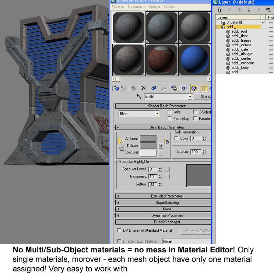 Sci Fi Building L Modern royalty-free 3d model - Preview no. 10