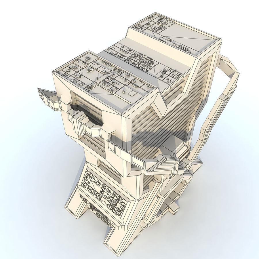 Sci Fi Building L Modern royalty-free 3d model - Preview no. 8