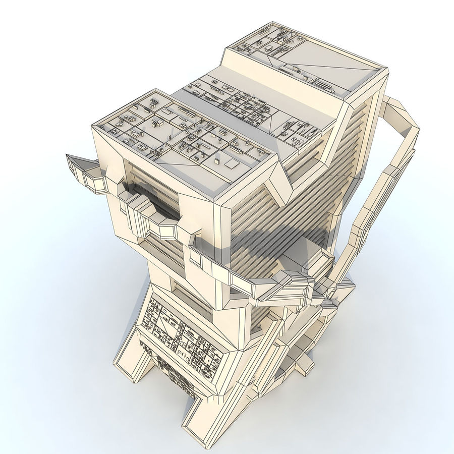 Sci Fi Building L Modern royalty-free 3d model - Preview no. 8