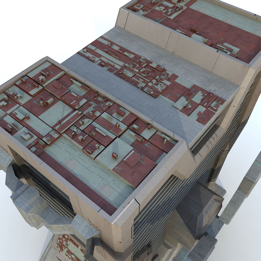 Sci Fi Building L Modern royalty-free 3d model - Preview no. 6