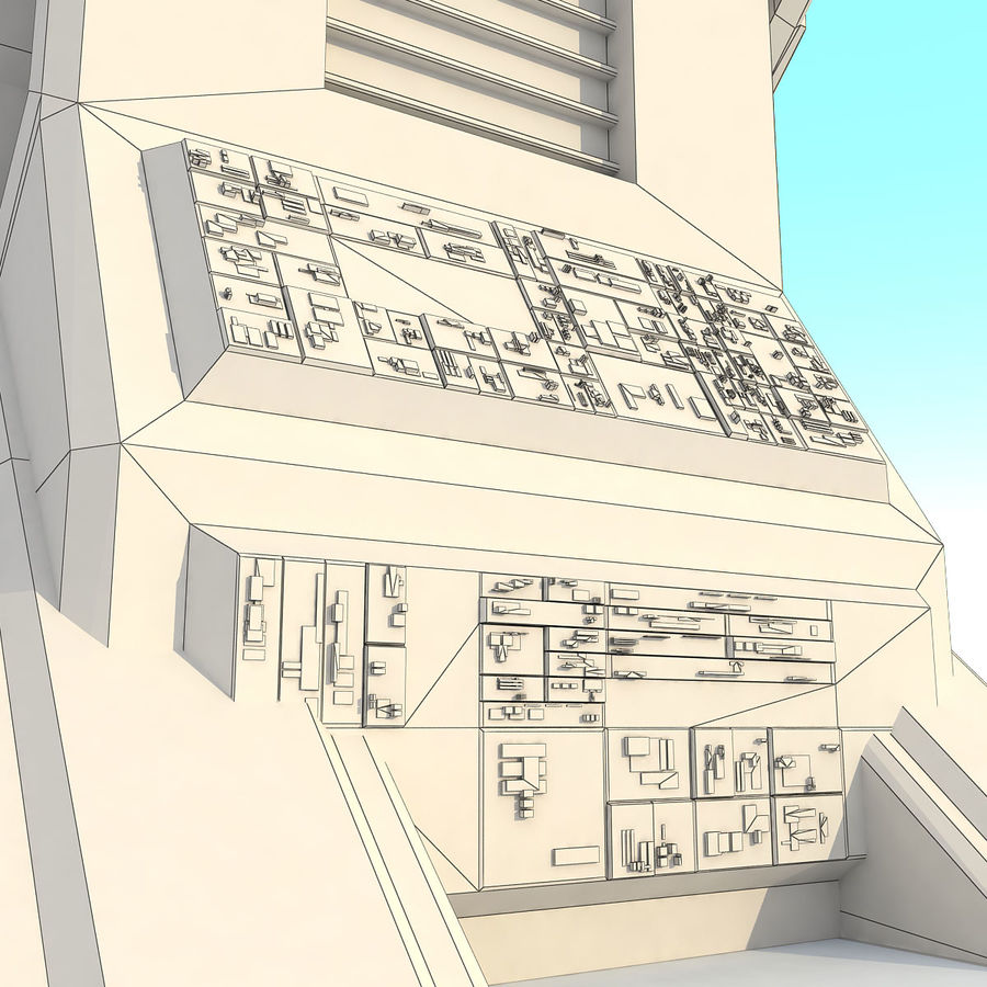 Sci Fi Building L Modern royalty-free 3d model - Preview no. 9