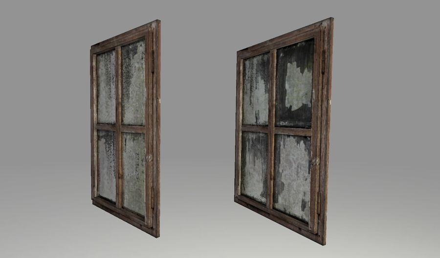 Old Windows royalty-free 3d model - Preview no. 6