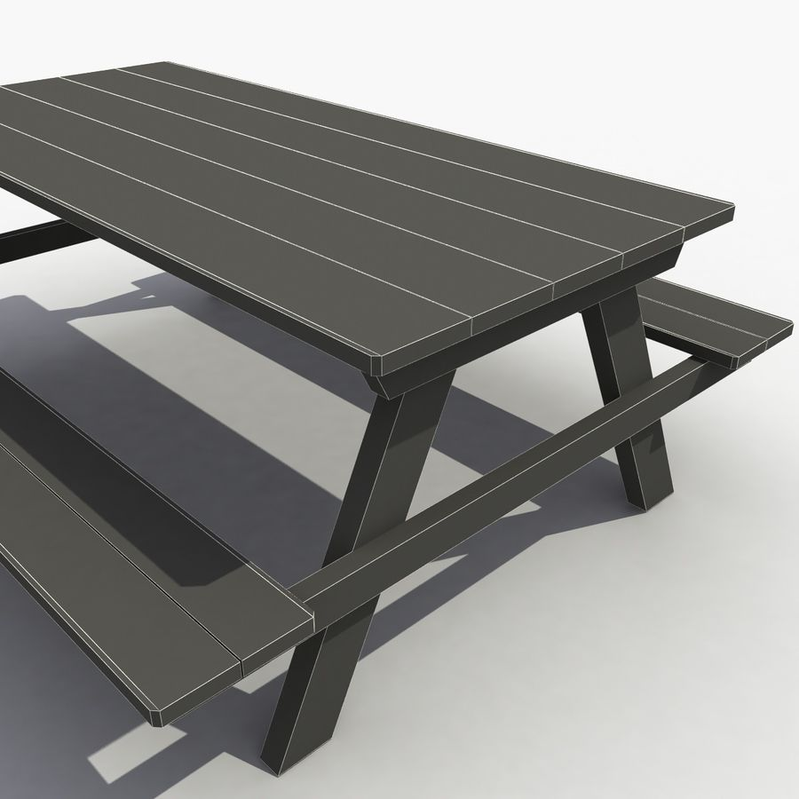 Träbord royalty-free 3d model - Preview no. 9