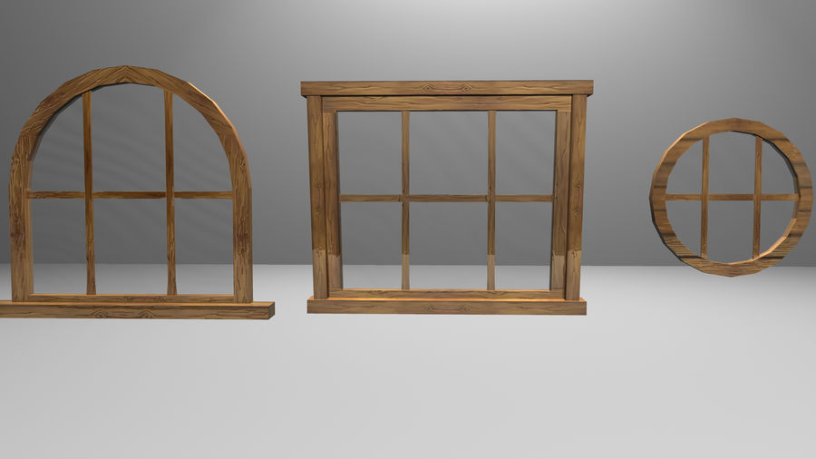 Set of 3 Windows royalty-free 3d model - Preview no. 4