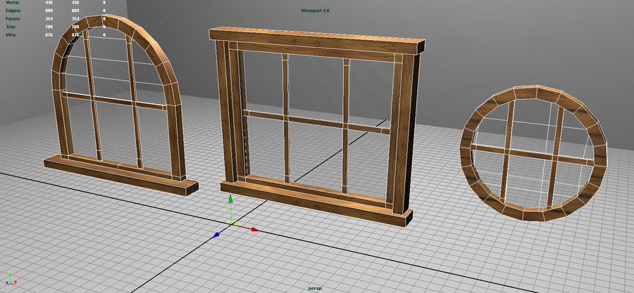 Set of 3 Windows royalty-free 3d model - Preview no. 8