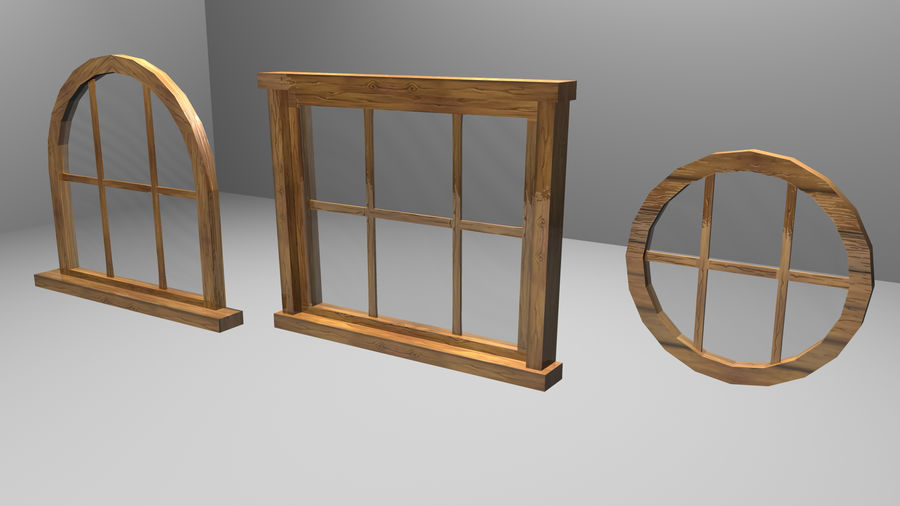 Set of 3 Windows royalty-free 3d model - Preview no. 2