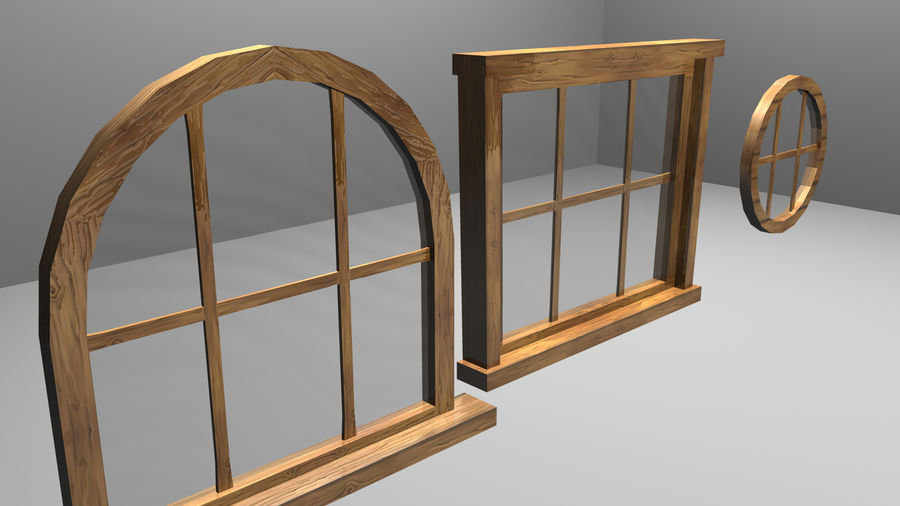 Set of 3 Windows royalty-free 3d model - Preview no. 1