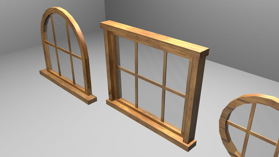 Set of 3 Windows royalty-free 3d model - Preview no. 3