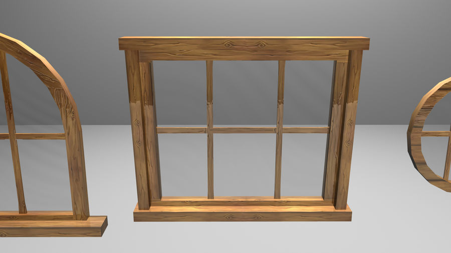 Set of 3 Windows royalty-free 3d model - Preview no. 6