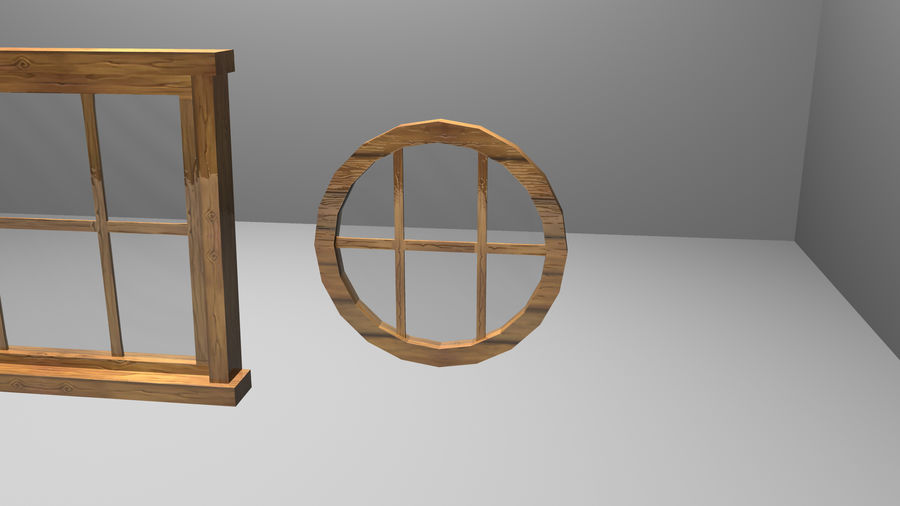 Set of 3 Windows royalty-free 3d model - Preview no. 7