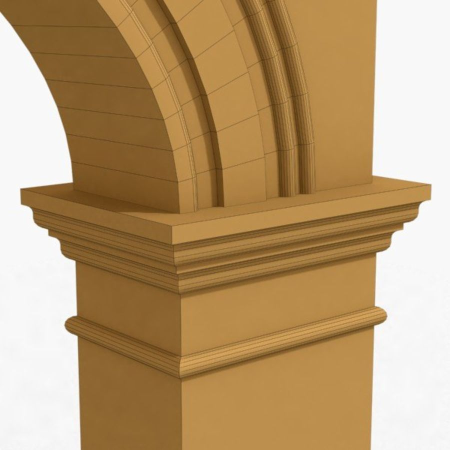 Arch 006 10ft - C1X1 royalty-free 3d model - Preview no. 6