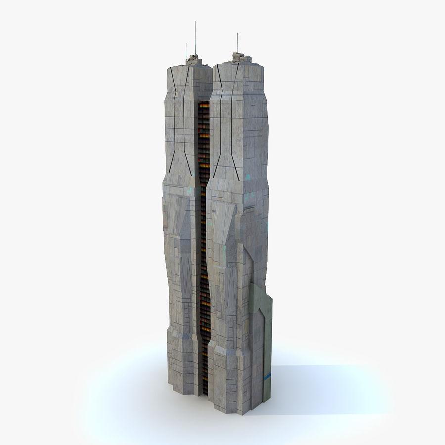 Sci Fi Building Tower 04 3D Model $15 -  max  obj  fbx - Free3D