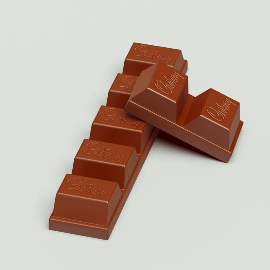 Cadbury Chocolate royalty-free 3d model - Preview no. 3