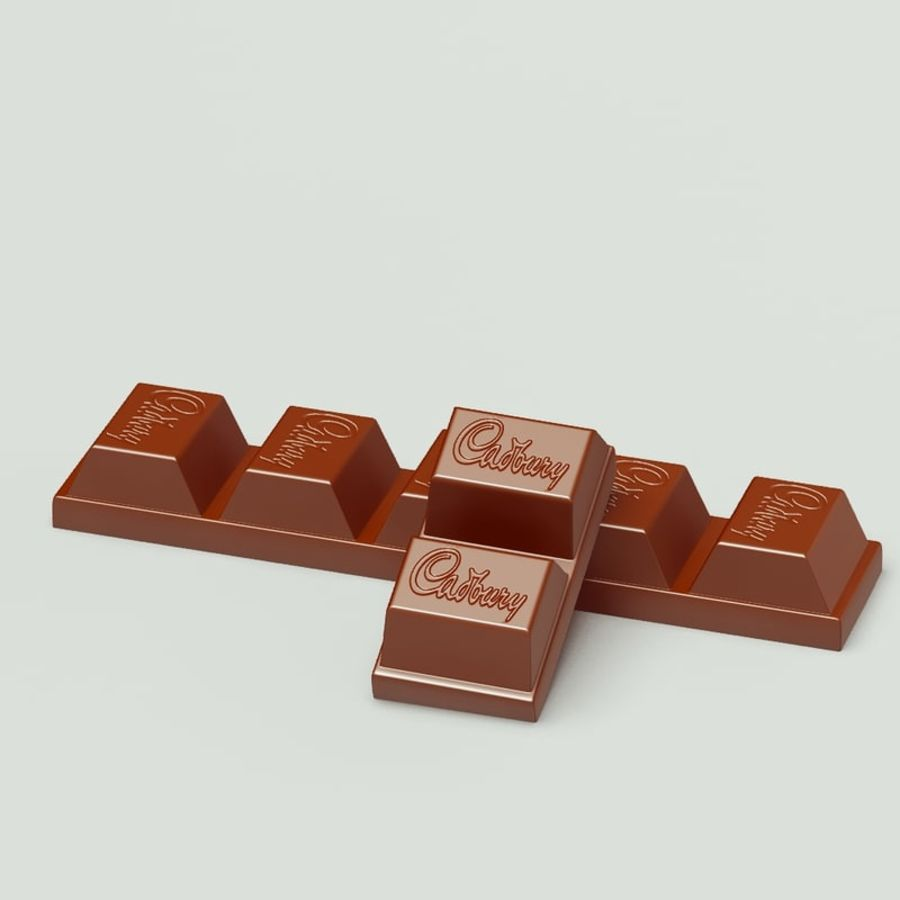 Cadbury Chocolate royalty-free 3d model - Preview no. 2