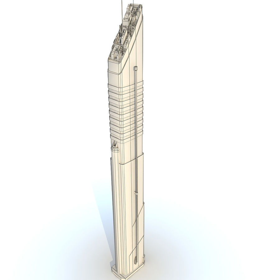 Sci fi Tower Building 07 royalty-free 3d model - Preview no. 9