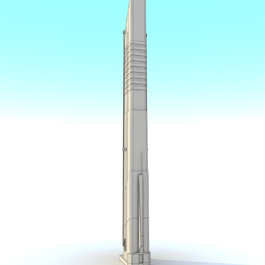 Sci fi Tower Building 07 royalty-free 3d model - Preview no. 11