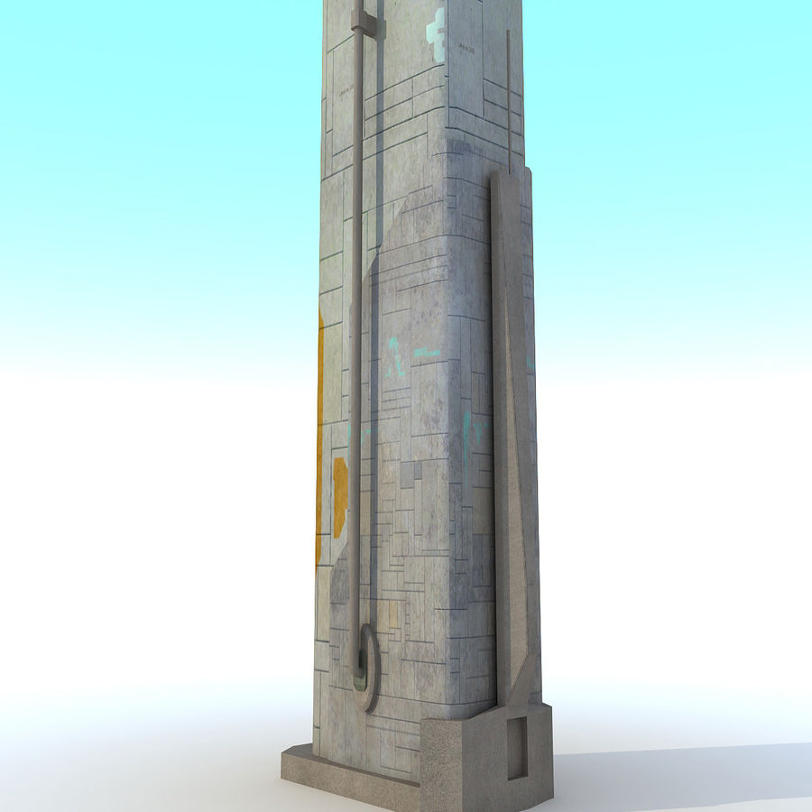 Sci fi Tower Building 07 royalty-free 3d model - Preview no. 6