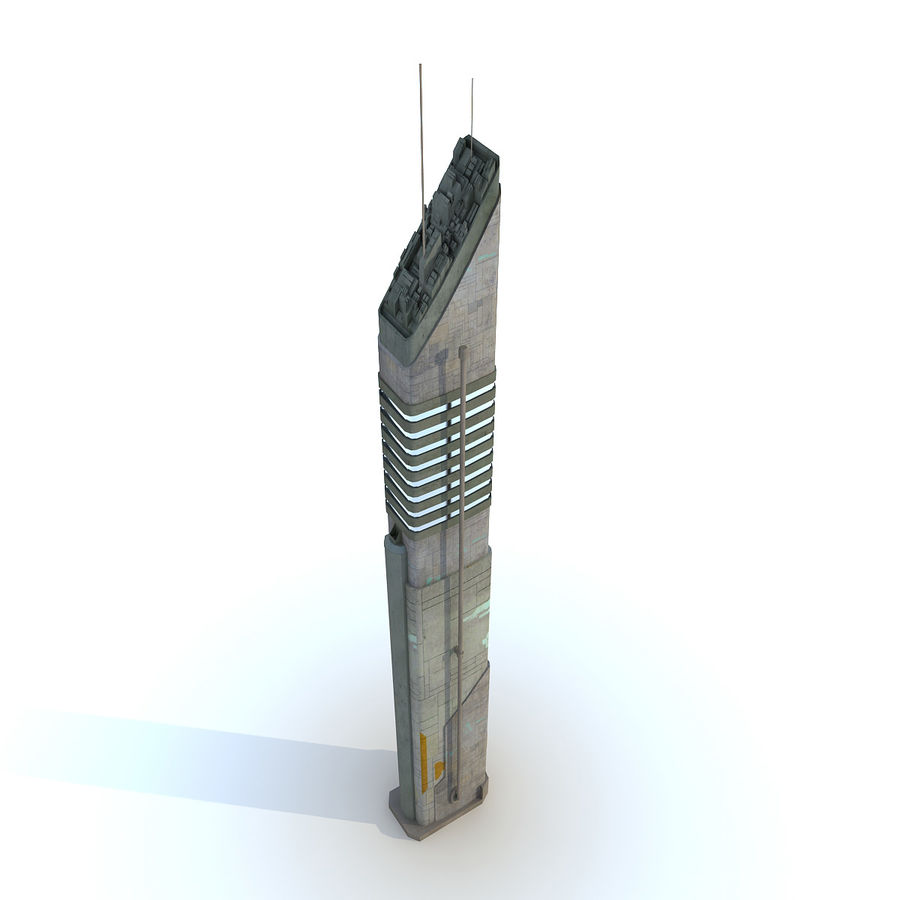 Sci fi Tower Building 07 royalty-free 3d model - Preview no. 2