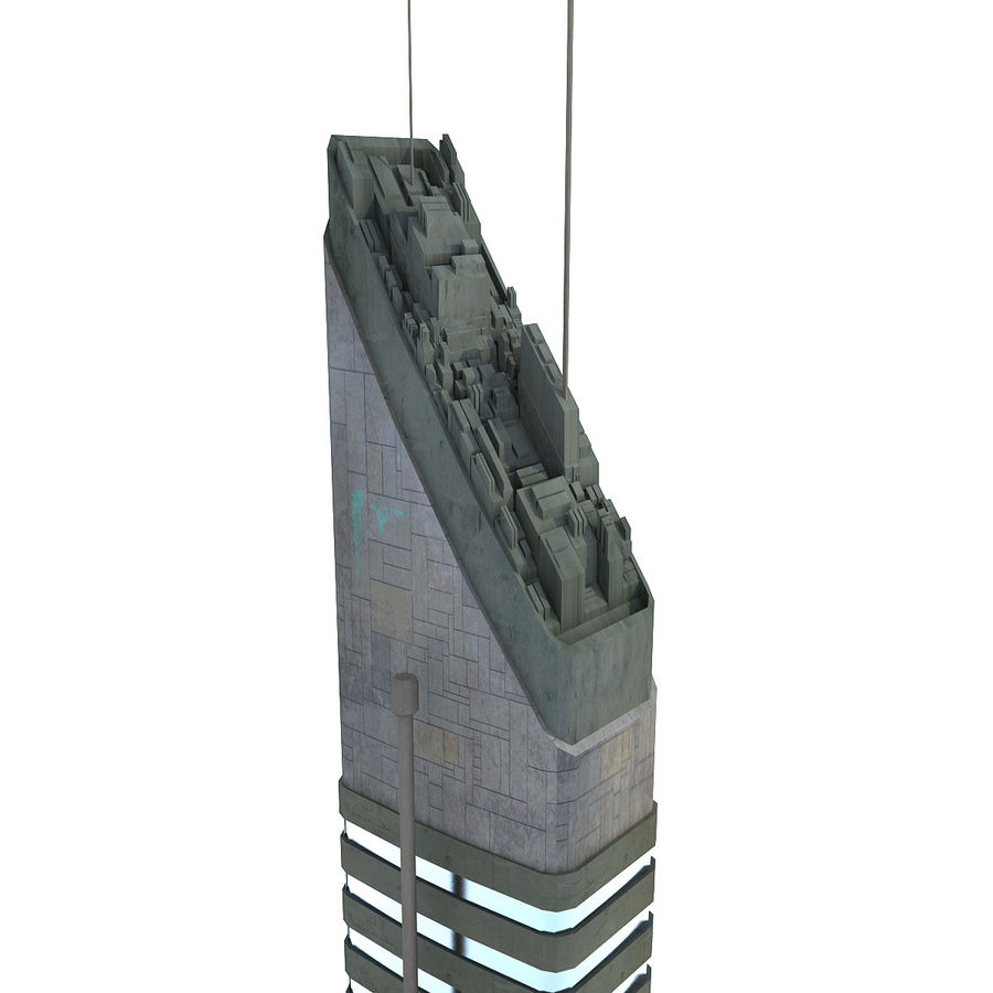 Sci fi Tower Building 07 royalty-free 3d model - Preview no. 5
