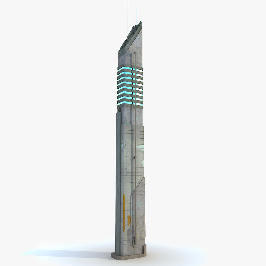 Sci fi Tower Building 07 royalty-free 3d model - Preview no. 1