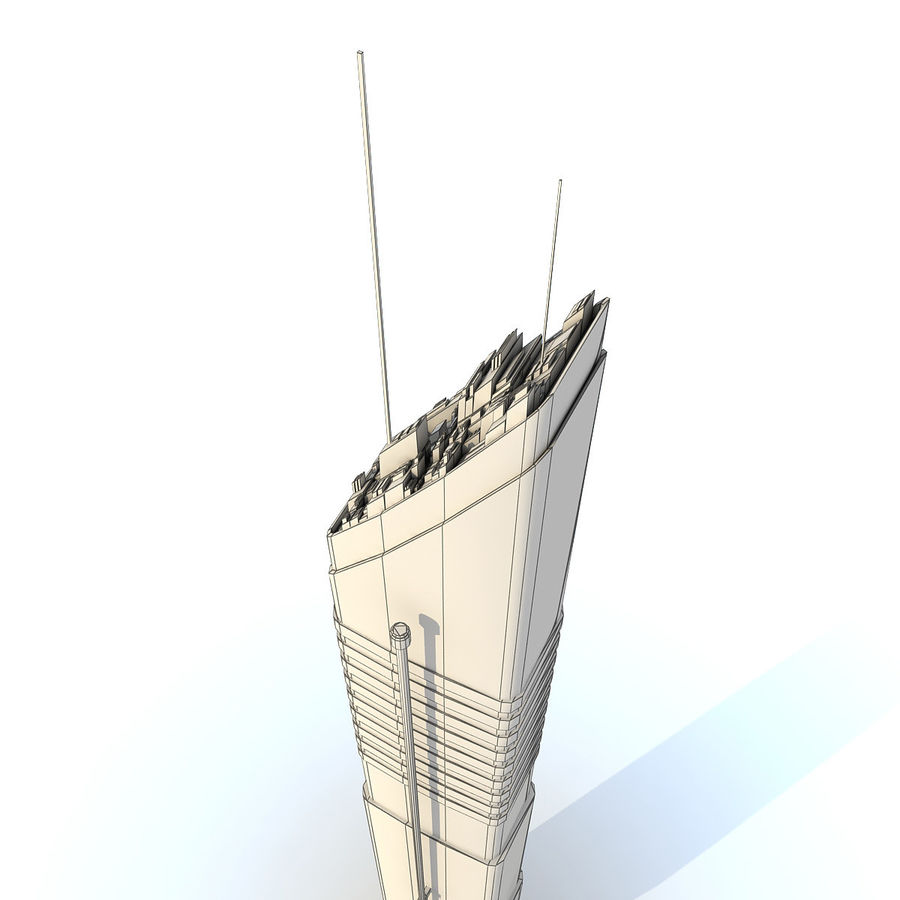 Sci fi Tower Building 07 royalty-free 3d model - Preview no. 12