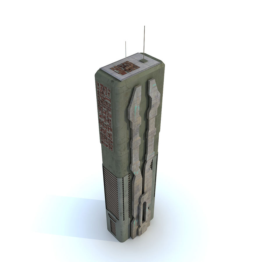 Sci fi Building Modern 06 royalty-free 3d model - Preview no. 2