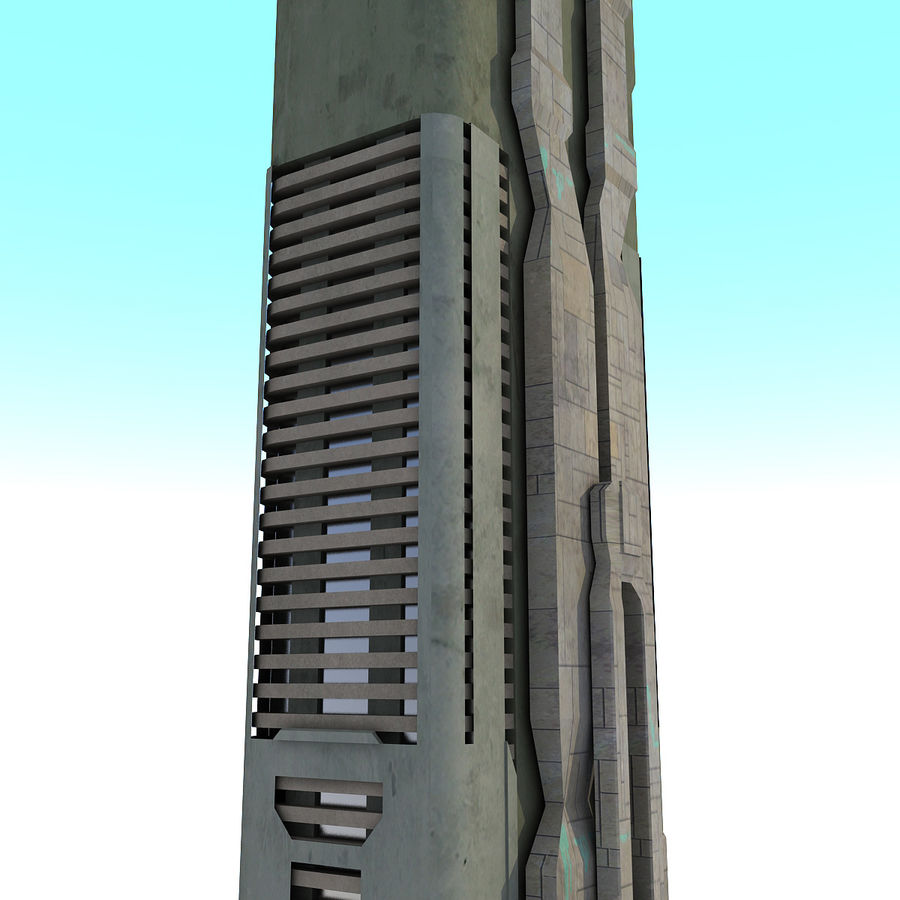 Sci fi Building Modern 06 royalty-free 3d model - Preview no. 4