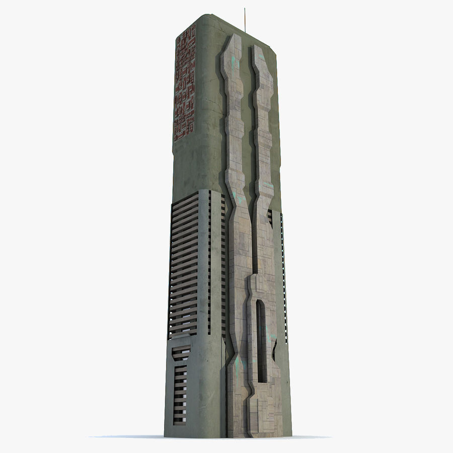 Sci fi Building Modern 06 royalty-free 3d model - Preview no. 1