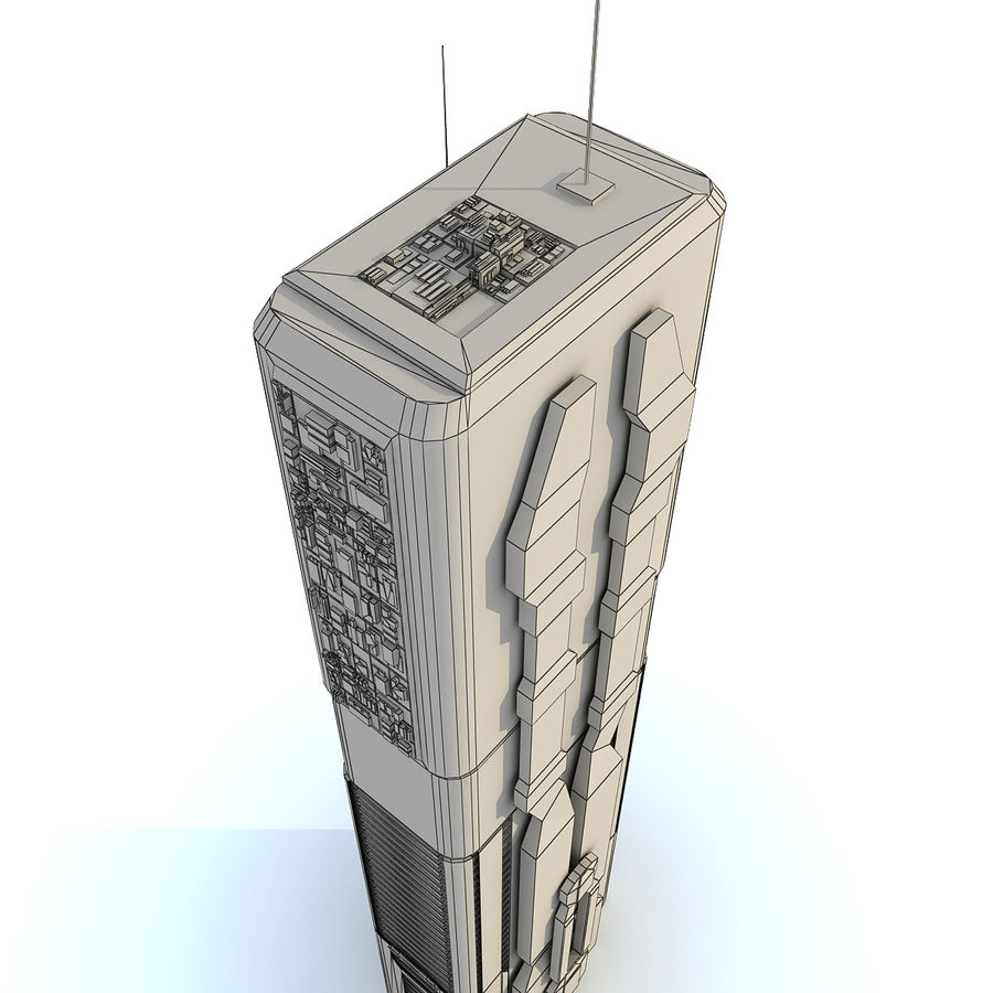 Sci fi Building Modern 06 royalty-free 3d model - Preview no. 10