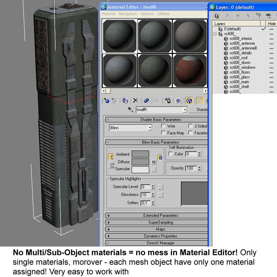 Sci fi Building Modern 06 royalty-free 3d model - Preview no. 11