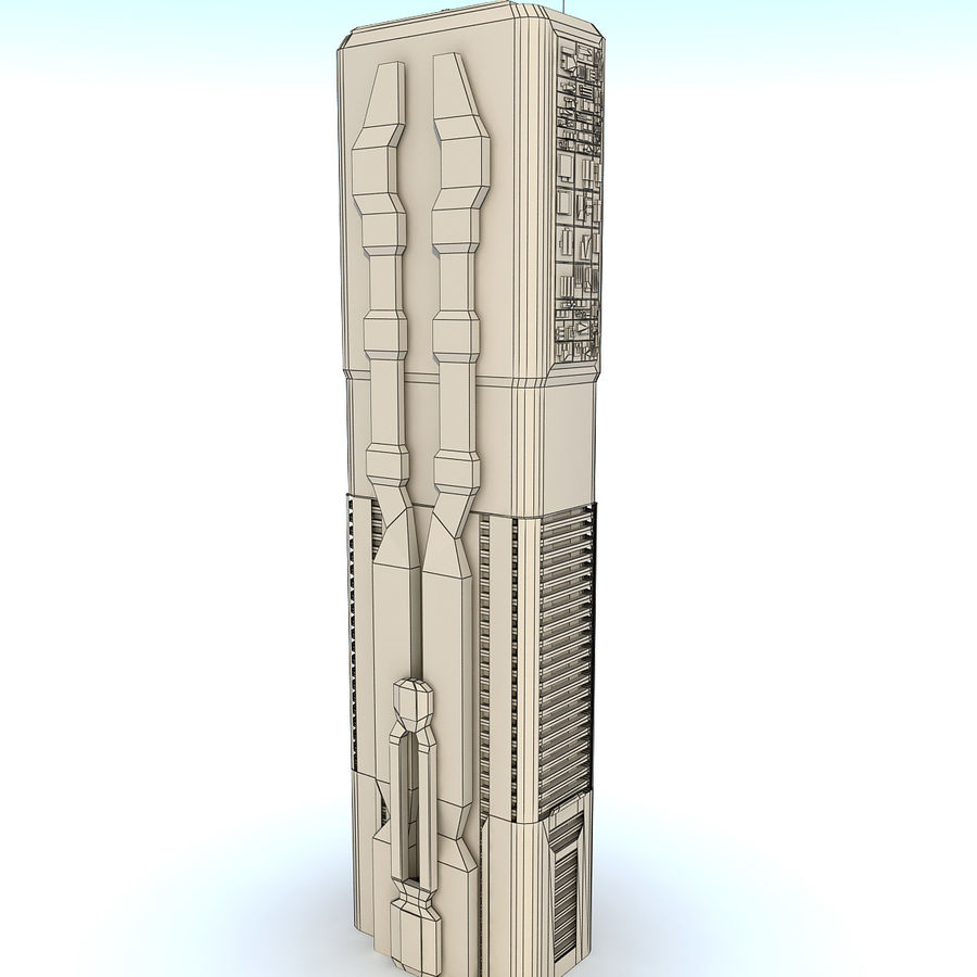 Sci fi Building Modern 06 royalty-free 3d model - Preview no. 9