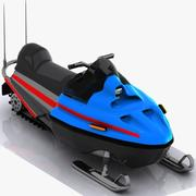 Cartoon Snowmobile 3d model