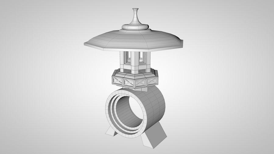 Japanese Garden Lantern royalty-free 3d model - Preview no. 7